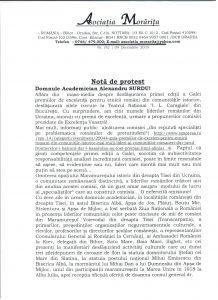 Nota de protest scanata I