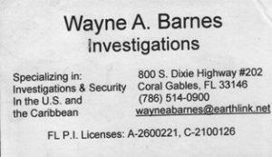 Wayne card